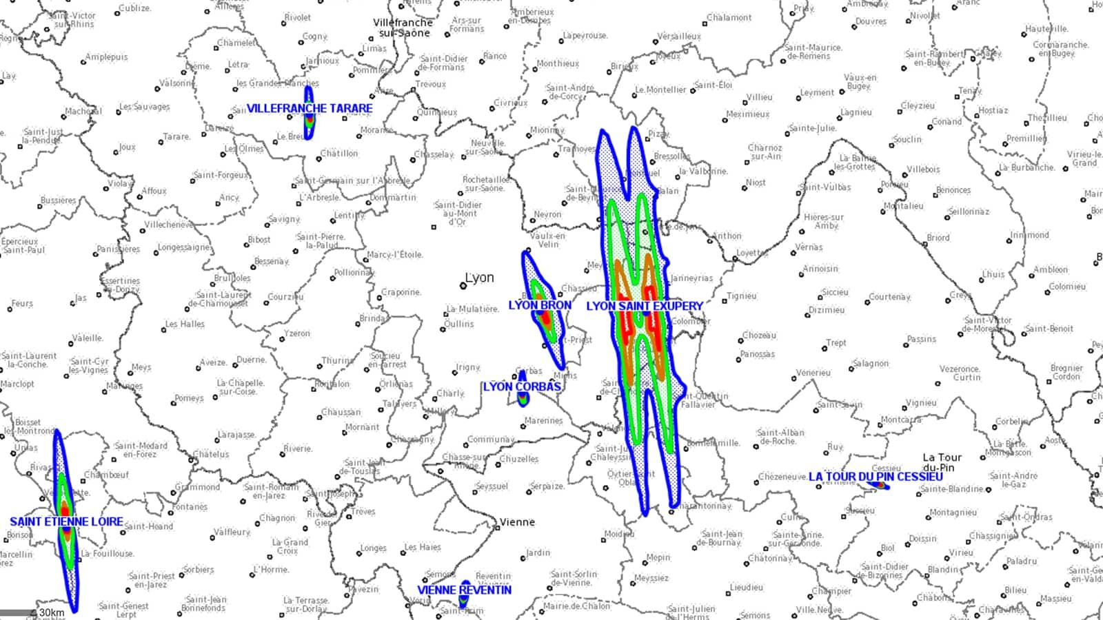 Exemple de cartographie du PEB